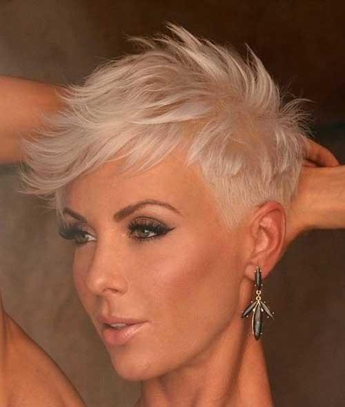 Pixie-Platinum-Hair Must-See Choppy Short Haircuts 2018