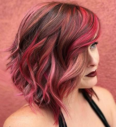 Reddish-Balayage-Hair Short Red Hair Color Ideas