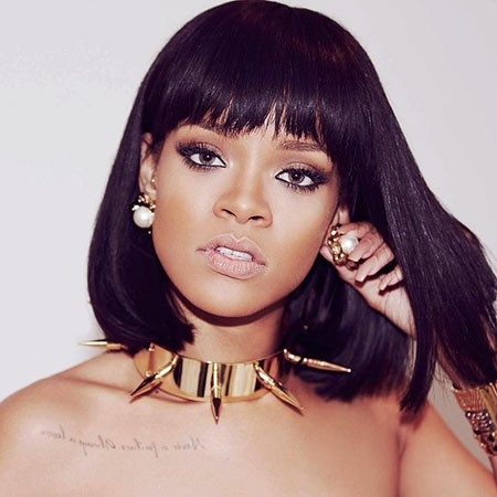Rihanna-Bob-Hairtyle Best Rihanna Short Hairstyles