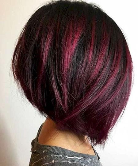 Round-Bob-Hair Short Red Hair Color Ideas