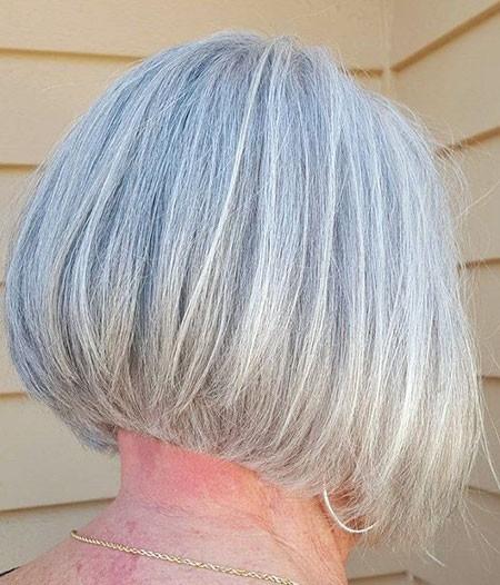 Round-Short-Bob-Hair Short Bob Haircuts for Older Women