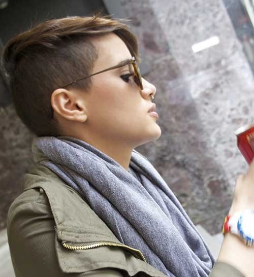 Shaved-Sides-Pixie Superb Short Pixie Haircuts for Women