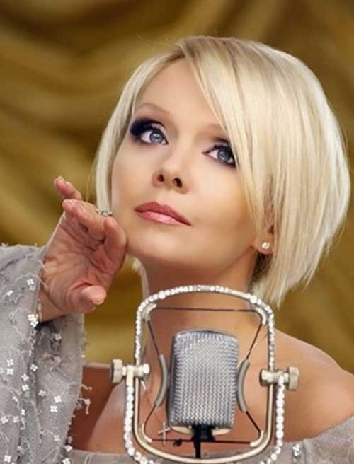 Short-Blonde-Hairstyle Blonde Short Hair Ideas for Ladies