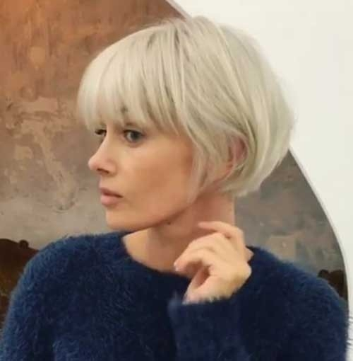 Short-Bob-Cut-with-Bangs Chic Short Bob Haircuts for 2018