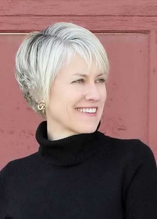 Short-Cut-for-Thin-Hairstyle Short Haircuts for Older Women 2018-2019