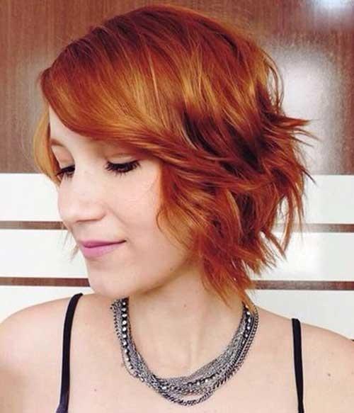 Short-Red-Wavy-Hair Must-See Choppy Short Haircuts 2018