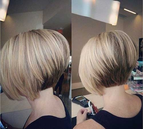 Short-Stacked-Bob-Haircut Chic Short Bob Haircuts for 2018