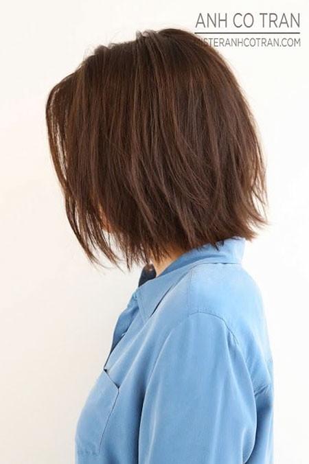 Short-Straight-Hair New Short Straight Hairstyles 2018