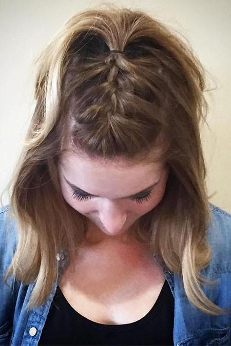 Summer-Hairtyle-1 Easy Braids for Short Hair