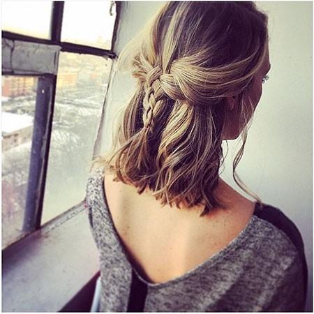 Updo-Hair Easy Braids for Short Hair