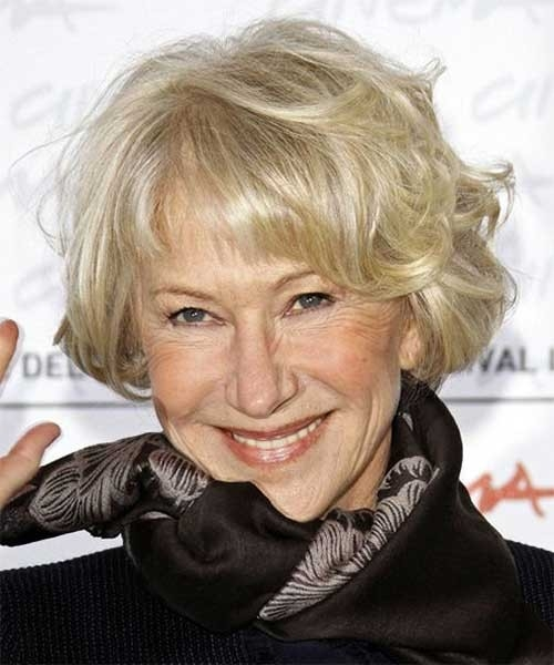 Wavy-Bob-with-Bangs-for-Women-Over-70 Best Short Haircuts For Women Over 70