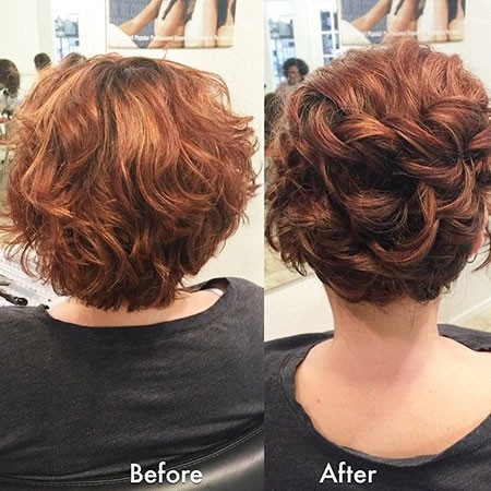Wavy-Updo-Hairtyle Updo Hairstyles for Short Hair
