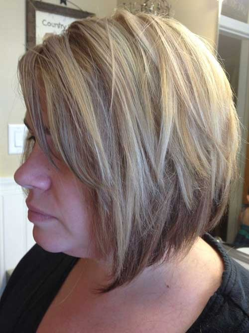 A-Line-Blonde-Bob-Hairstyle Latest Bob Haircuts for 2018