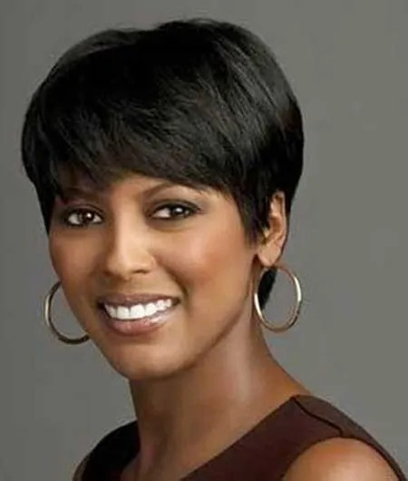 African-American-Short-Wigs Short Haircuts for Black Women with Round Faces