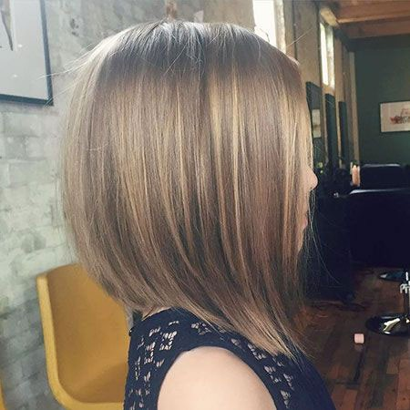 Angled-Bob-Hairstyle Short Cute Hairstyles