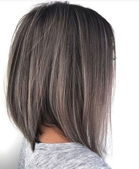 Ash-Grey-Straight-Hair Best Short Hair Color Ideas