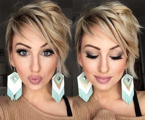 Best-Side-Parted-Layered-Short-Hair Beautiful Layered Short Haircuts for Ladies