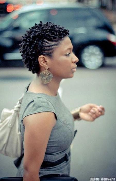 Black-Hair Short Natural Haircuts for Black Women