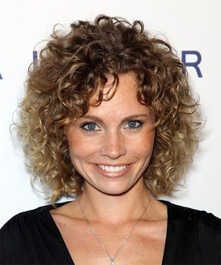 Blonde-Curls Short Natural Curly Hairstyles