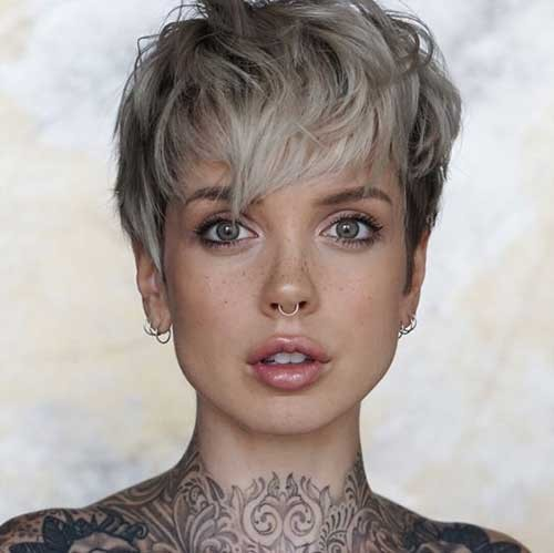 Blonde-Pixie-Cut Beautiful Layered Short Haircuts for Ladies