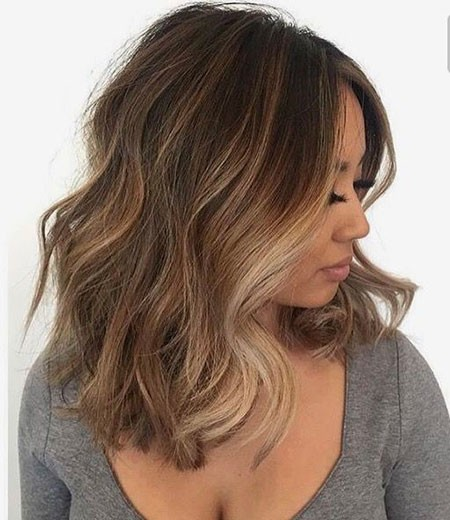 Brown-Hair-with-Highlights Popular Short Brunette Hairstyles