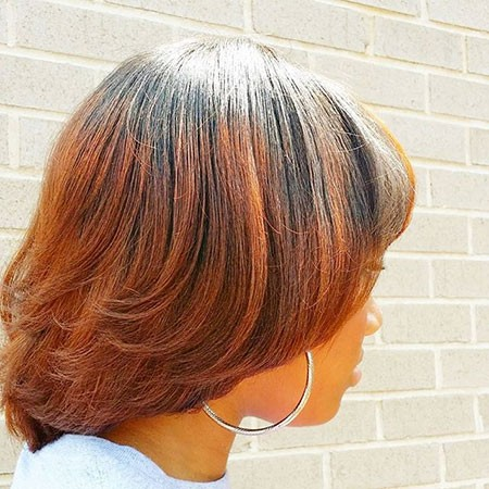 Copper-Ombre Best Short Hairstyles for Black Women