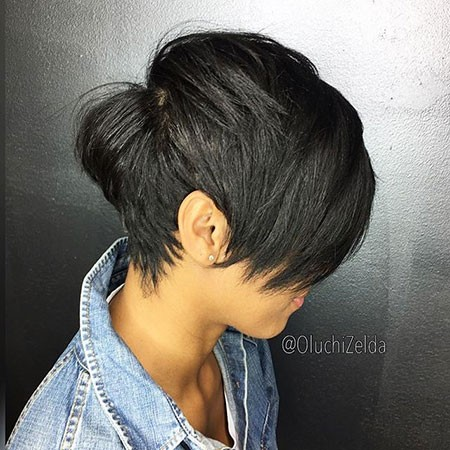 Cute-Choppy-Cut Best Short Hairstyles for Black Women