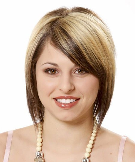 Cute-Hair Short Hairstyles for Chubby Faces