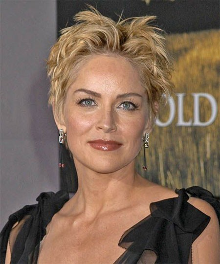 Cute-Pixie-Hairstyle New Sharon Stone Short Hairstyles