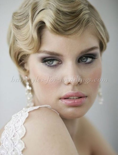 Cute-Short-Style Bridal Hairstyles for Short Hair