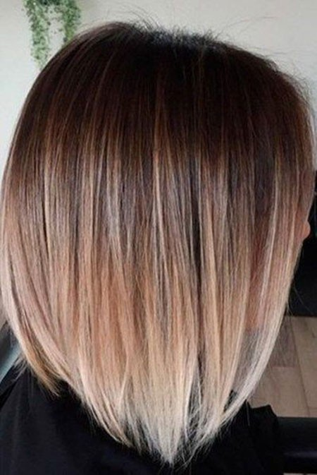 Dark-Roots-with-Blonde-Lowlights Best Short Hair Color Ideas