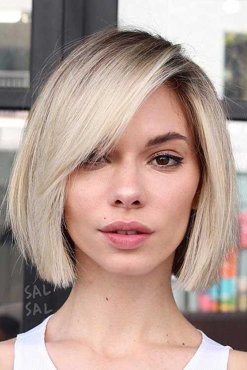 Fine-Hair-Blunt-Cut-2018 Latest Bob Haircuts for 2018