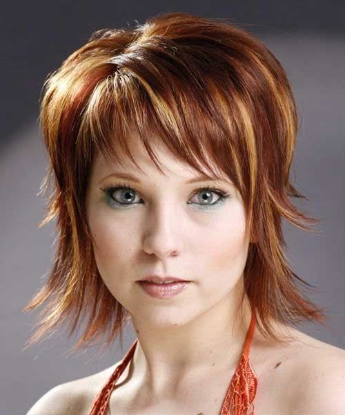 Ginger-Shaggy-Layered-Hairstyle Short Shaggy Haircuts
