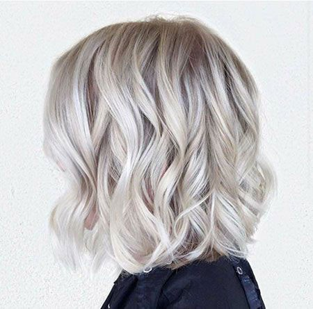 Gray-Waves Short Hairstyles for Wavy Hair