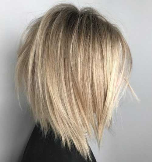 Neck-Length-Layered-Bob-Haircut-2018 Latest Bob Haircuts for 2018