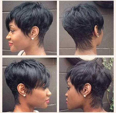Ombre-Hair-Straight-Hair-Short Cute Short Hairstyles for Black Women