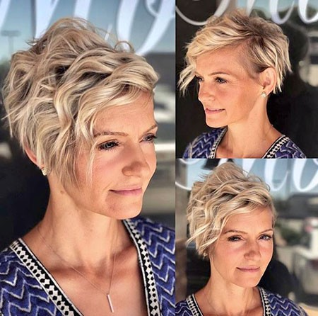 One-sided-Pixie-Cut Short Hairstyles for Wavy Hair
