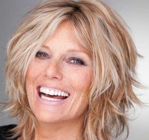 Patti-Hansen-Shaggy-Blonde-Hair Short Shaggy Haircuts