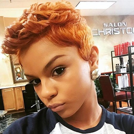Pixie-Cut-with-Girl Best Short Hairstyles for Black Women