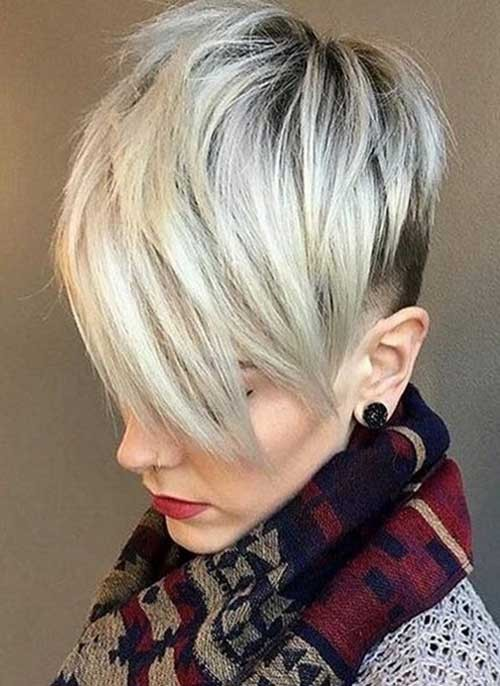 Platinum-Blonde-Pixie-Hairstyle-2018 Best Pixie Haircuts for 2018