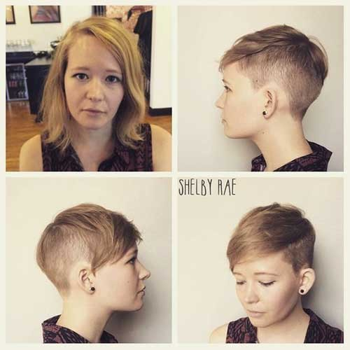 Sand-Blonde-Pixie-Hair Best Pixie Haircuts for 2018