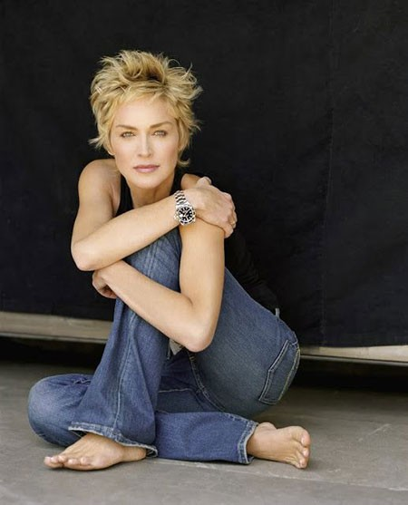 Sharon-Stone-Gorgeous-Look New Sharon Stone Short Hairstyles