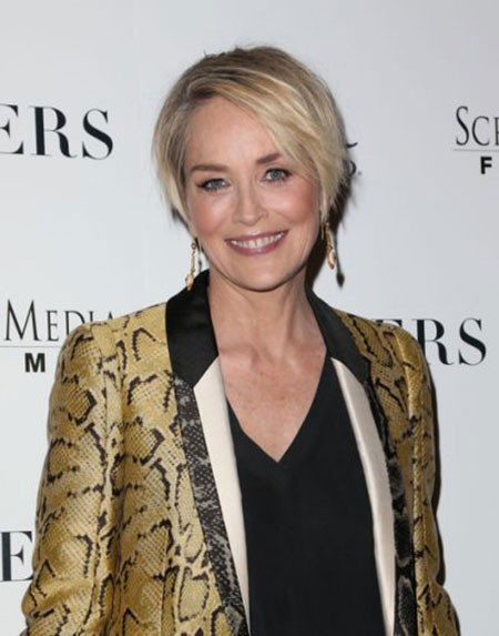 Sharon-Stone-Short-Hairtyles-1 New Sharon Stone Short Hairstyles