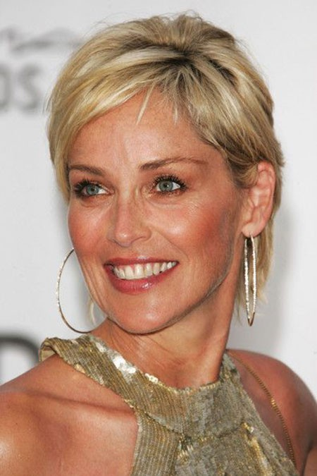 Sharon-Stone-Stylish-Look New Sharon Stone Short Hairstyles