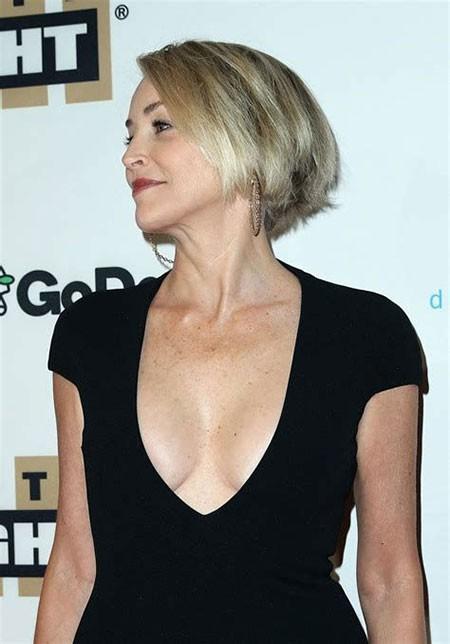 Short-Bob-Hairtyle New Sharon Stone Short Hairstyles