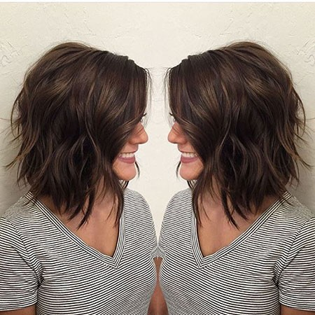 Short-Brunette-Hairstyles Popular Short Brunette Hairstyles