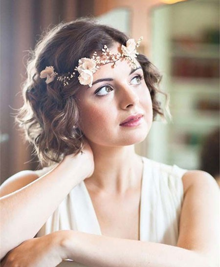 Short-Hair-Wedding-Styles Bridal Hairstyles for Short Hair