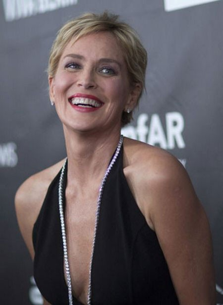 Short-Pixie-Cut New Sharon Stone Short Hairstyles