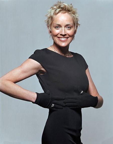 Short-Waves New Sharon Stone Short Hairstyles