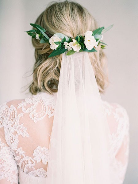 Simple-and-Elegant-Style Bridal Hairstyles for Short Hair